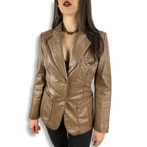 1970's ETIENNE AIGNER equestrian leather jacket